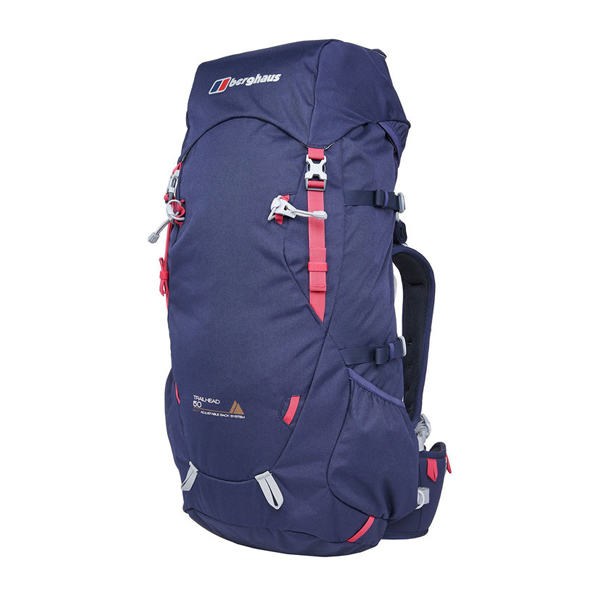 Equipment Berghaus TRAILHEAD 50 RUCKSACK DARK BLUE / PINK Outlet Online