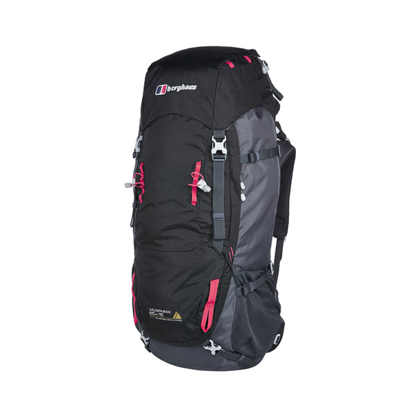 Equipment Berghaus WILDERNESS 65+15 RUCKSACK BLACK / DARK GREY Outlet Online