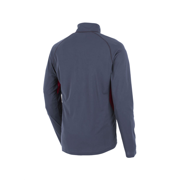 Men Berghaus LONG SLEEVE ZIP NECK TECH T-SHIRT DARK GREY / RED Outlet Online