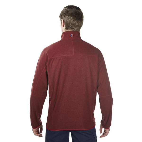 Men Berghaus SPECTRUM MICRO 2.0 HALF ZIP FLEECE DARK RED Outlet Online