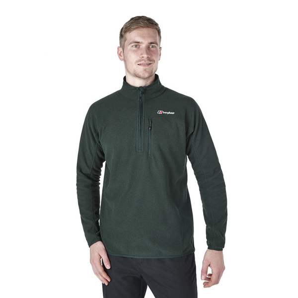 Men Berghaus HALF ZIP STAINTON FLEECE DARK GREEN Outlet Online