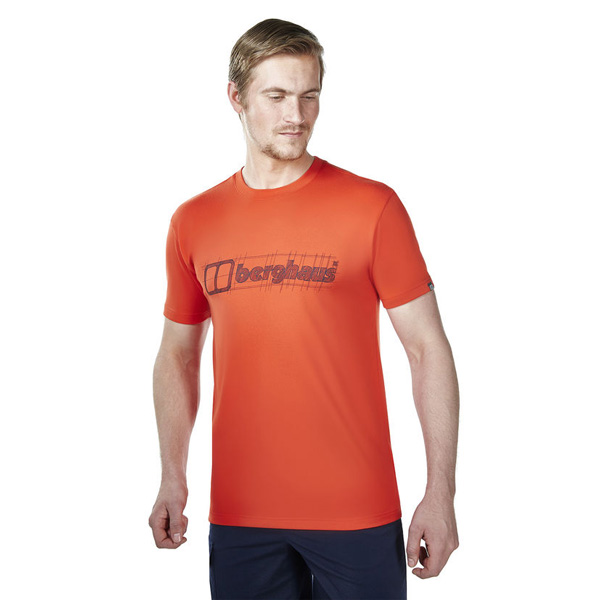 Men Berghaus VOYAGER SKETCH T-SHIRT RED Outlet Online