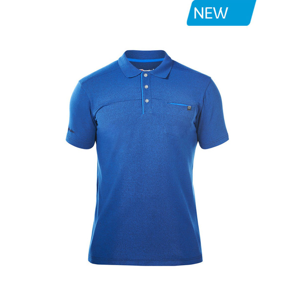 Men Berghaus VOYAGER POLO SHIRT BLUE Outlet Online