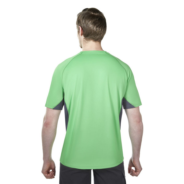 Men Berghaus SHORT SLEEVE CREW NECK TECH T-SHIRT GREEN / DARK GREY Outlet Online
