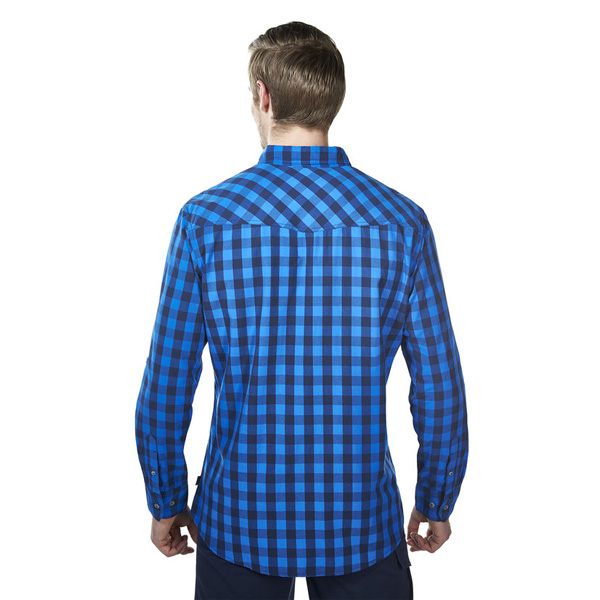 Men Berghaus EXPLORER 2.0 LONG SLEEVE SHIRT BLUE SMALL CHECK Outlet Online