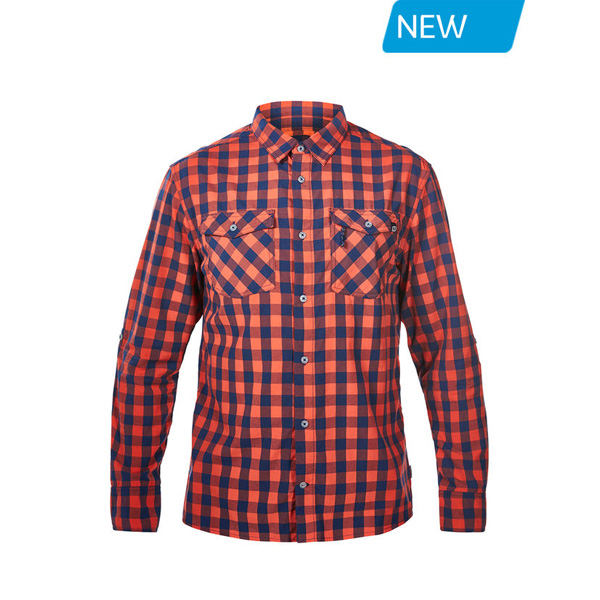 Men Berghaus EXPLORER 2.0 LONG SLEEVE SHIRT RED SMALL CHECK Outlet Online