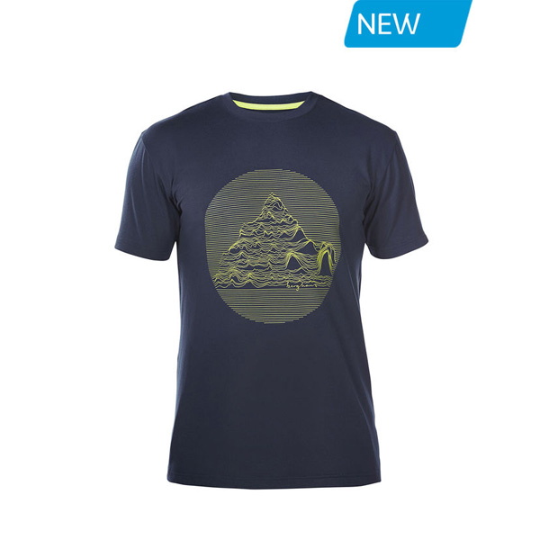 Men Berghaus VOYAGER SONAR T-SHIRT DARK BLUE Outlet Online