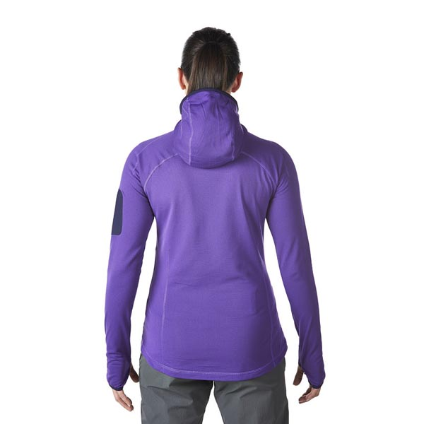 Women Berghaus EXTREM PRAVITALE LIGHT FLEECE HOODIE PURPLE Outlet Online