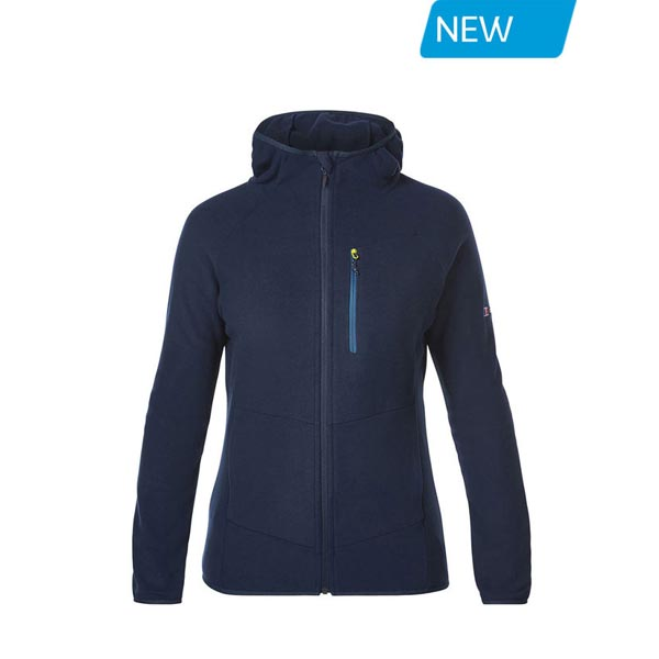 Women Berghaus VERDON FLEECE HOODIE DARK BLUE Outlet Online