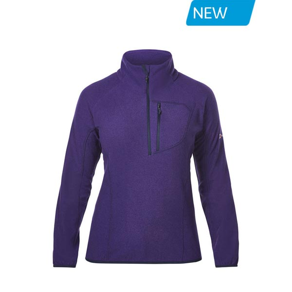 Women Berghaus SPECTRUM MICRO 2.0 HALF ZIP FLEECE DARK PURPLE Outlet Online