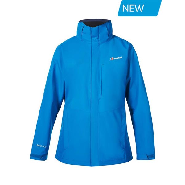 Women Berghaus LONG HILLWALKER WATEPROOF JACKET BLUE Outlet Online