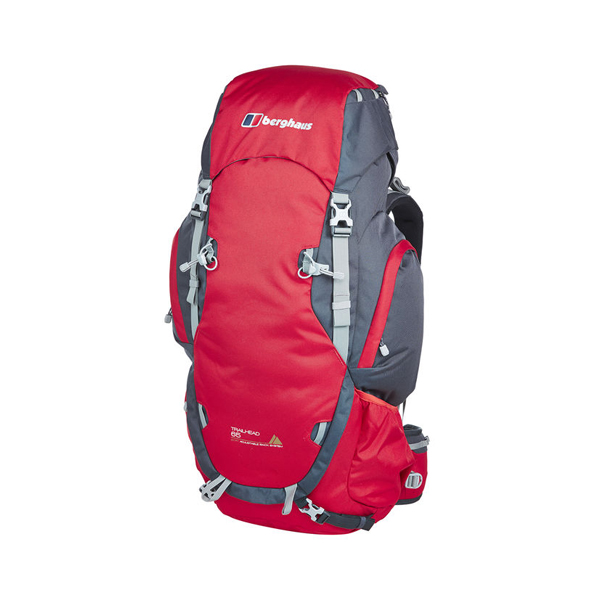 Equipment Berghaus TRAILHEAD 65 RUCKSACK RED / DARK GREY Outlet Online