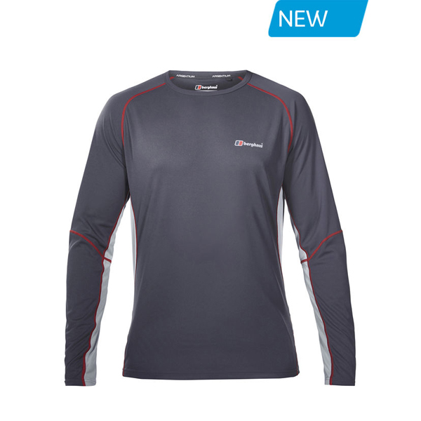 Men Berghaus LONG SLEEVE CREW NECK TECH T-SHIRT DARK GREY / DARK BLUE Outlet Online