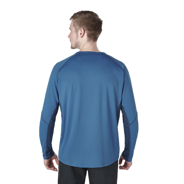 Men Berghaus LONG SLEEVE CREW NECK TECH T-SHIRT BLUE / DARK BLUE Outlet Online