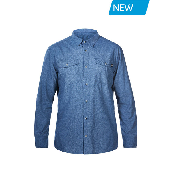 Men Berghaus EXPLORER 2.0 LONG SLEEVE SHIRT BLUE Outlet Online