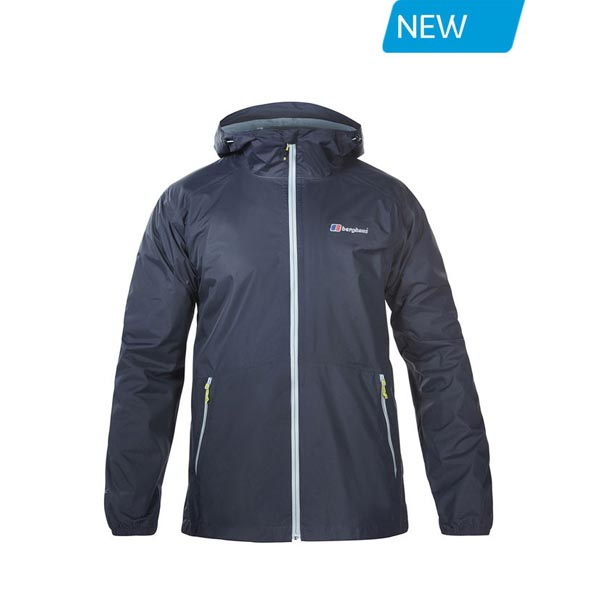 Men Berghaus DELUGE LIGHT WATERPROOF JACKET DARK GREY Outlet Online
