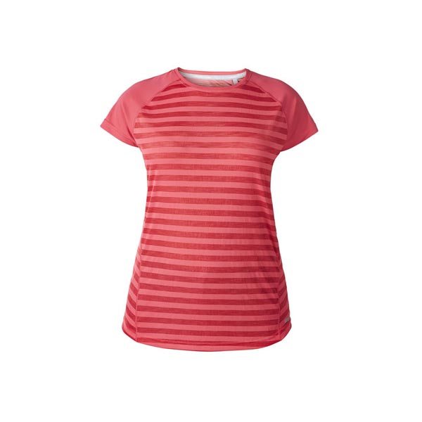 Women Berghaus STRIPED SHORT SLEEVE BASECREW PINK Outlet Online