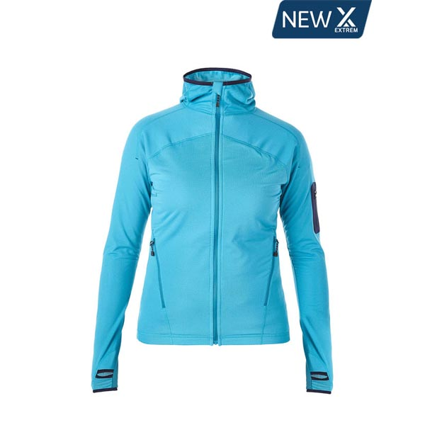 Women Berghaus EXTREM PRAVITALE LIGHT FLEECE HOODIE TURQUOISE Outlet Online