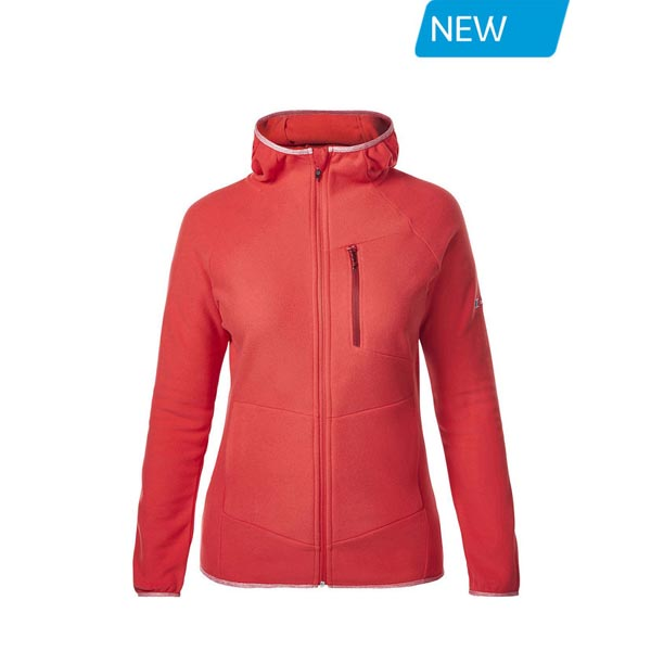 Women Berghaus VERDON FLEECE HOODIE RED Outlet Online