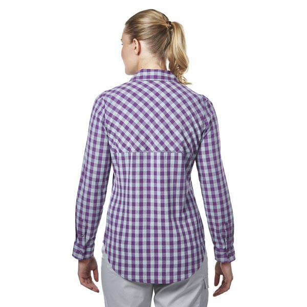 Women Berghaus EXPLORER 2.0 LONG SLEEVE SHIRT PURPLE SMALL CHECK Outlet Online