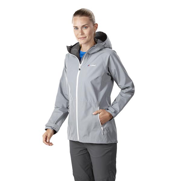 Women Berghaus PACLITE 2.0 WATERPROOF JACKET LIGHT GREY Outlet Online