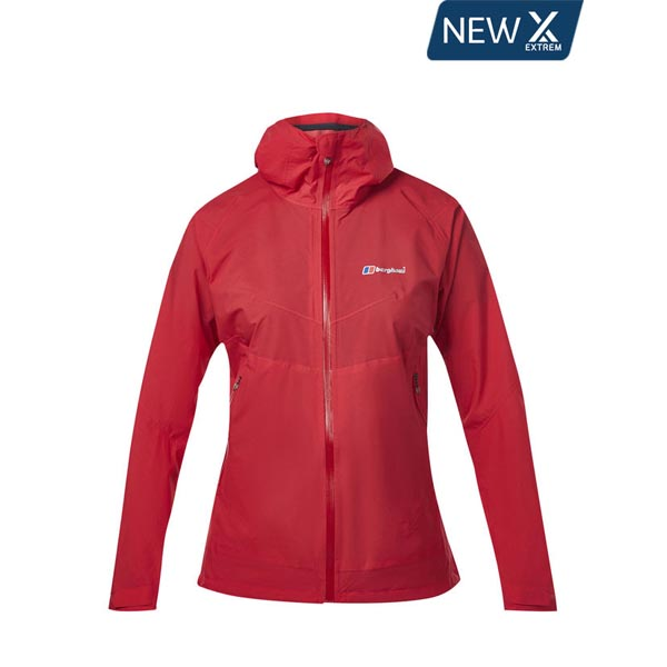 Women Berghaus FASTPACKING EXTREM WATERPROOF JACKET RED Outlet Online