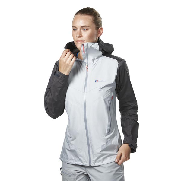 Women Berghaus EXTREM LIGHT PACLITE WATERPROOF JACKET DARK GREY / LIGHT GREY Outlet Online